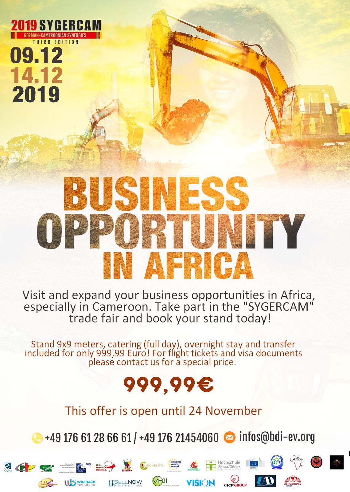 Business opportuinity in africa